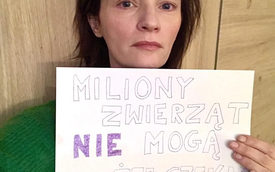 Agata Buzek w sprawie zakazu chowu zwierząt na futra
