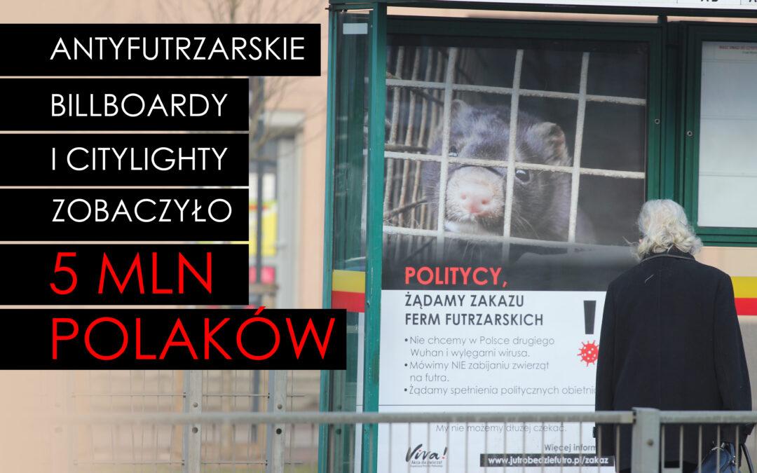 Antyfutrzarskie billboardy i citylighty zobaczyło ponad 5 mln Polaków!